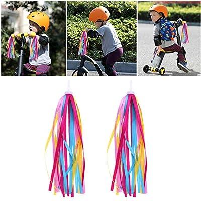 CLISPEED 2pcs Bike Handlebar Streamers Bicycle Grips Tassel Ribbons for Kids Boys Girls Bike Decorations : Sports & Outdoors