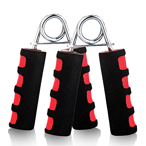 DEFEATALL Hand Grip Strengthener, Adjustable Hand, Wrist Forearm and Finger Exerciser for Athletes, Pianists, Guitar and Therapy,Quickly Increasing Strength (Red)