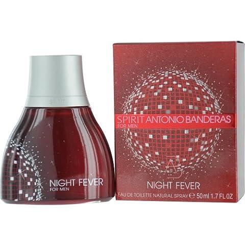 Antonio Banderas Spirit Night Fever Eau De Toilette Spray for Men, 1.7 Ounce - Antonio Banderas Fragrances