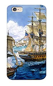 Defender Case For Iphone 6, Art Bale Sea Painting Ships Navy Guns Military Ship Pattern, Nice Case For Lover's Gift