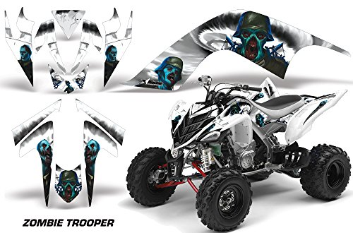 06-2012 ATV All Terrain Vehicle AMR Racing Graphic Kit Decal ZOMBIE TROOPER WHITE (Yamaha Atv Graphics Kit)