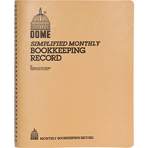 Dome 612 Bookkeeping Record  Tan Vinyl Cover  128 Pages  8 1 2 X 11 Pages