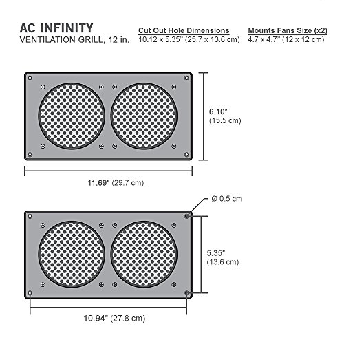 Ac Infinity Ventilation Grille For Pc Computer Av