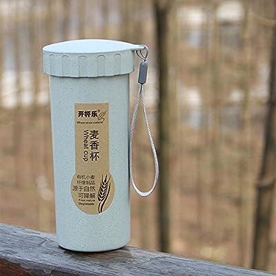 SportHome - Botella de Agua portátil con Pajita de Trigo Natural ...