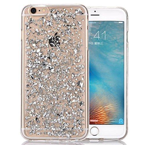 Smartcase Coque pour iPhone 6 Motif Pétales d'or Argent