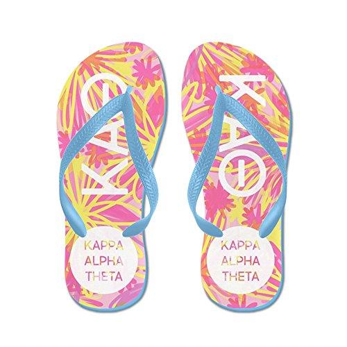 CafePress Kappa Alpha Theta Pink - Flip Flops, Funny Thong Sandals, Beach Sandals Caribbean Blue