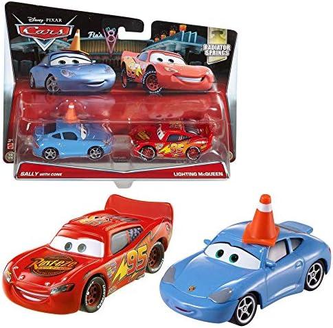 Disney Cars Cast 1:55 - Selección Modelos de Vehículos Doble Pack, Cars Doppelpacks:Sally & Lightning McQueen: Amazon.es: Juguetes y juegos