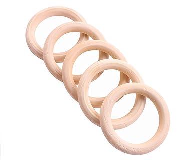 Demarkt 5x Holzring Holz Ring Zum Basteln Diy Handwerk Schmuck 60mm Wie Die Bilder X 60mm