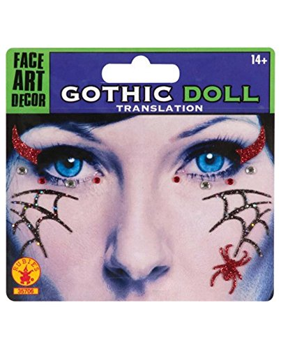 Gothic Doll Face Mask Tattoo -