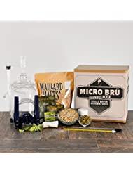 KickAss American Wheat 1 Gallon All Grain Micro Bru Home Brewing Equipment Kit With Beer Recipe Kit