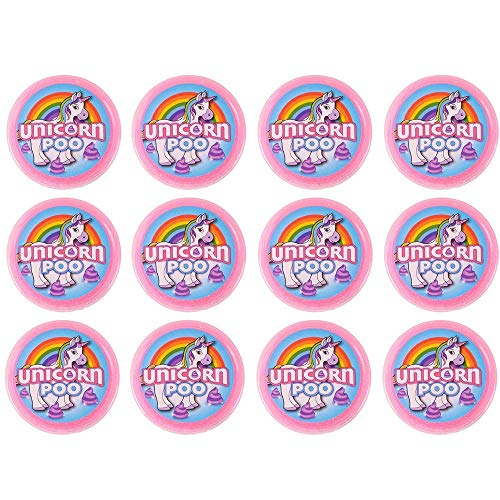 OIG Brands Unicorn Slime for Girls and Boys - 12 Pack Goody Bag Filler, Birthday Gifts for Kids Non-Toxic (Unicorn Poop)