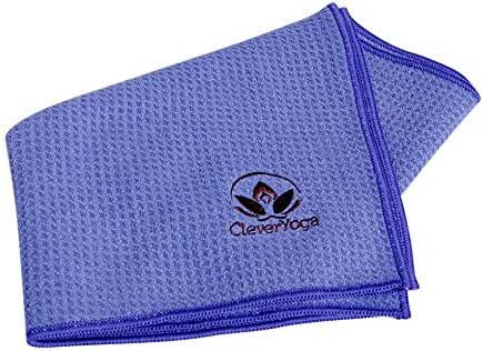"Clever Yoga Non Slip Towel and Hand Towel Made With The Best, Durable Microfiber – Comes With Our Special ""Namaste"" (Multiple Colors)"