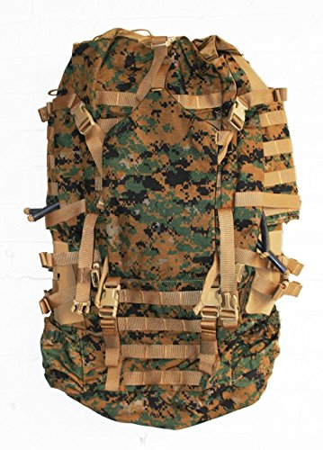 USMC Field Pack, MARPAT Main Pack, Woodland Digital Camouflage, Spare Part, Component of Improved Load Bearing Equipment (ILBE) by Arc'teryx