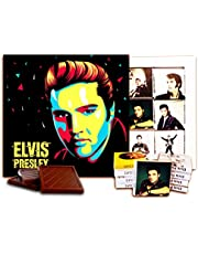 "DA CHOCOLATE Candy Souvenir Elvis Presley Chocolate Set 5x5"" 1 Box"