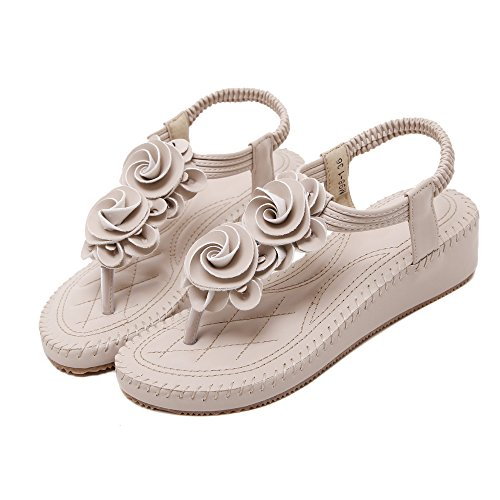 Sandal Styles Shoes Flowers Flops of flip apricot Bohemia Colorfulworld Women's qw8BxtBv