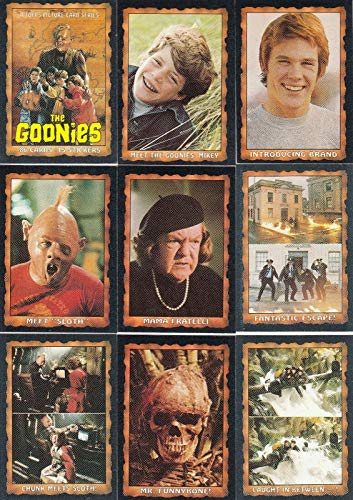 THE GOONIES MOVIE 1986 TOPPS COMPLETE BASE CARD & STICKER SET 86 + 22