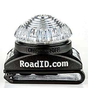 Running Light - Road ID Supernova LED Light for Runners with Reflective Wrist Band (Clear)