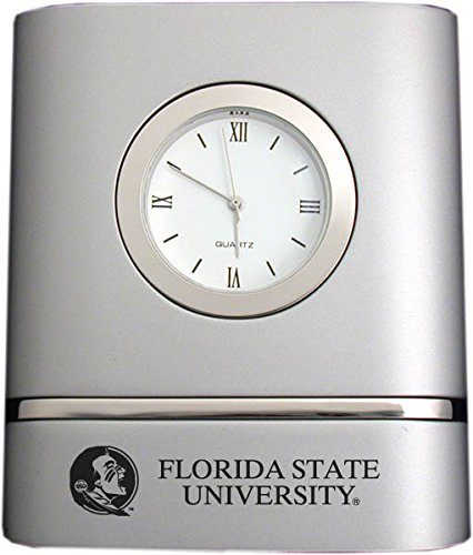 - Florida State University- Two-Toned Desk Clock -Silver