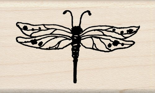 Inkadinkado Wood Stamp, Dragonfly (Stamp Dragonfly Rubber Mounted Wood)