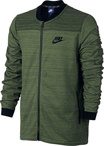 Nike Men's Sportswear Advance 15 Full Zip Knit Jacket(Palm Green/Htr/Black, XXL)
