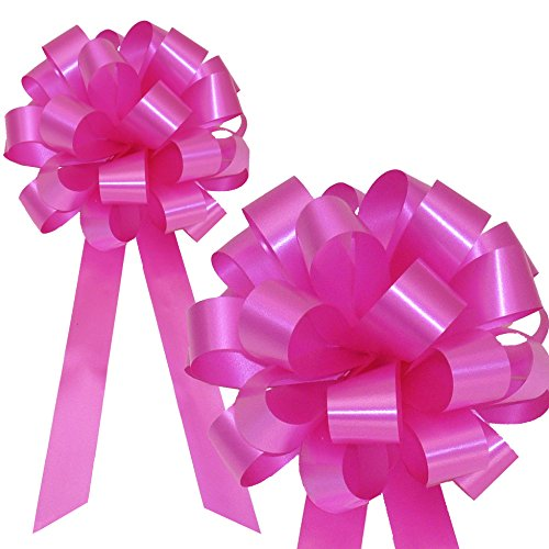 Hot Pink Fuchsia Pull Bows with Tails - 8
