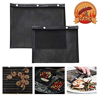 HLovebuy BBQ Grill Mesh Bag,Non-Stick BBQ Bake Bag,Reusable and Easy to Clean Non-Stick Mesh Grilling Bag Outdoor Picnic Tool by HLovebuy