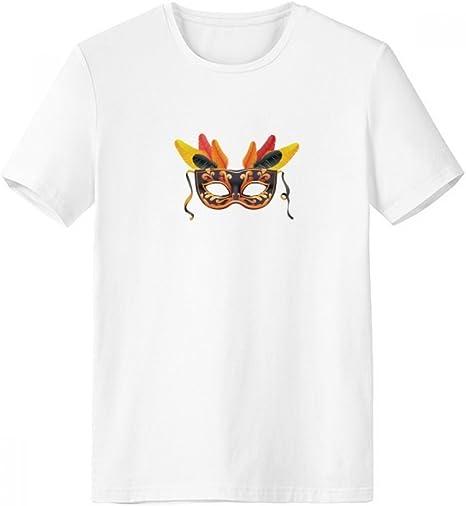 DIYthinker Máscara De Plumas Feliz Carnaval De Venecia Cuello Redondo Camiseta Blanca De Manga Corta De La Comodidad Camisetas Deportivas Regalo: Amazon.es: Deportes y aire libre