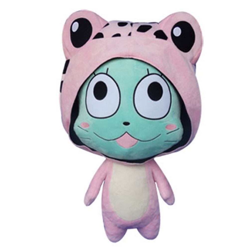 Rain's Pan Anime Fairy Tail Frosch Cosplay Plush Pillow Cushion Toy Dolls Pink 23'' by Rain's Pan Plush Toy Pillows (Image #1)