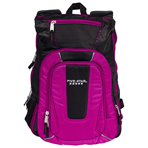- Five Star Expandable Backpack, School Backpack, Berry (73413)