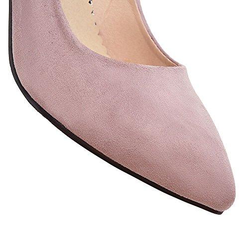 Fashion HeelPump Shoes - Sandalias con cuña mujer Rosa