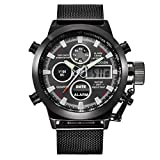 Fullfun XINEW Mens LED Stainless Steel Wrist Watch - Back Light,Alarm,Water Resistant,Chronograph,Shock Resistant,Complete Calendar,Auto Date,LED display,Diver (4)