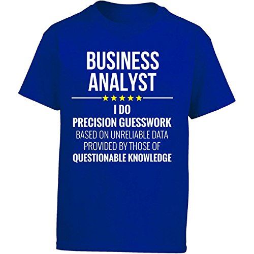 Business Analyst I Do Precision Guesswork Gift - Girl Kids T-Shirt Kids XL Royal by This Gift Rocks ! (Image #1)