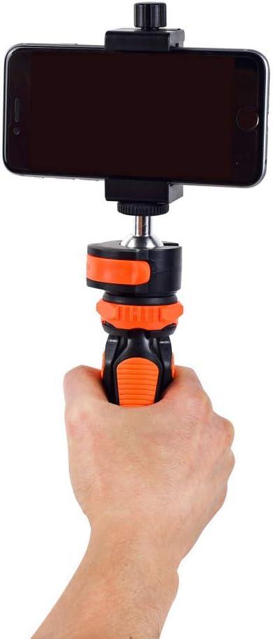 YTGOOD Mobile Phone Supplies Tripod Mobile Phone Holder Portable Desktop Mini Tripod SLR Camera Photography Small Tripod Orange