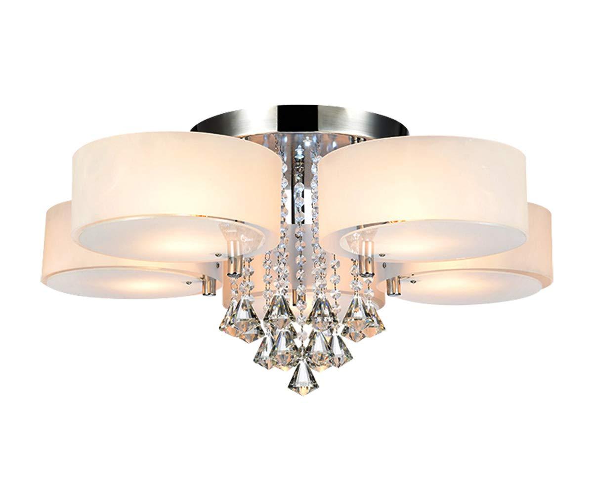 Style home® 35W RGB Deckenlampe LED Kristall Deckenleuchte 5 Flammig mit Fernbedienung incl. Leuchtmittel 6103-5C-RGB
