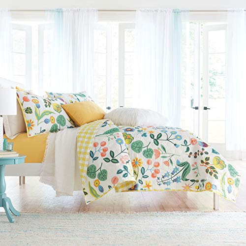 BrylaneHome Bh Studio Emmy Floral Quilt - Floral Multi, Full/Queen
