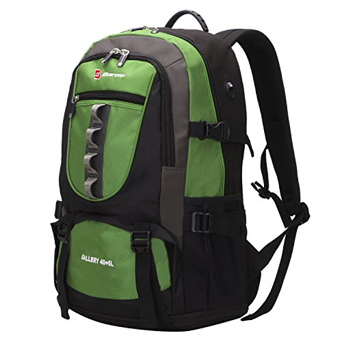 Soarpop BB4312 14 inch Dedicated Laptop Backpack, Water Repellent & Scratch Resistant Backpack, 40+5L Large Capacity Outdoor Hiking/Climbing Backpack Green