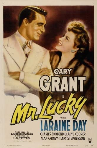 Amazon.com: Movie Posters Mr. Lucky - 11 x 17: Posters & Prints
