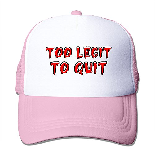 25518609aba GGTAI Custom Too Legit To Quit Mesh Hat Pink - Buy Online in Oman ...