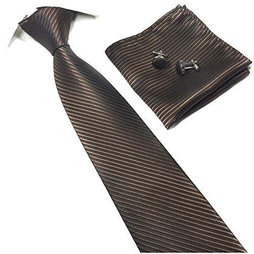 Men Coffee Tie Adult Formal Dark Brown Chocolate Self Necktie Father