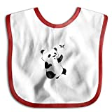 MGDBB Baby Boys Girls Water Absorbent Colors Panda Cub With Butterfly Saliva Towel
