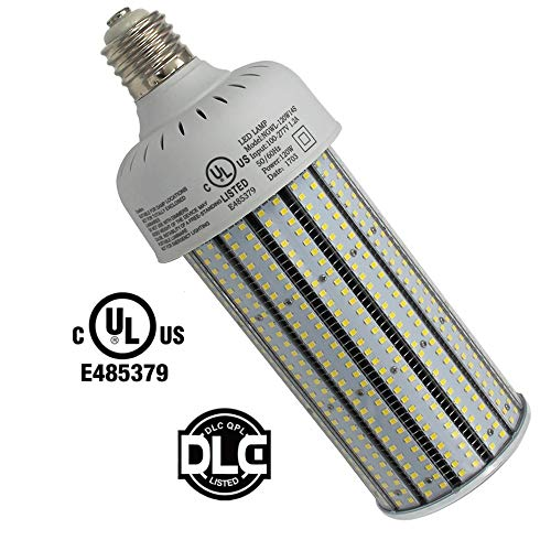400W High Pressure Sodium Replacement LED Corn Light Bulbs 120 Watt Dustproof Parking Lot Fixture Retrofit Bulb E39 Mogul Base 5000K Pure White for Warehouse,Garage,Car Park AC100-277V (120)