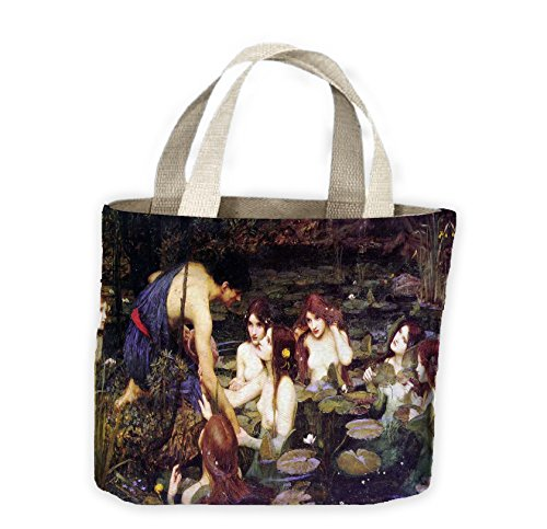 John William Waterhouse Hylas and The Nymphs Tote Shopping Bag For Life (John William Waterhouse Hylas And The Nymphs)