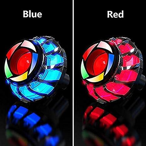 Titcch Luce Lampeggiante Angel Eye Devil Eyes LED per Moto Blue Luce di Stop fanale Posteriore per Moto indicatori di direzione