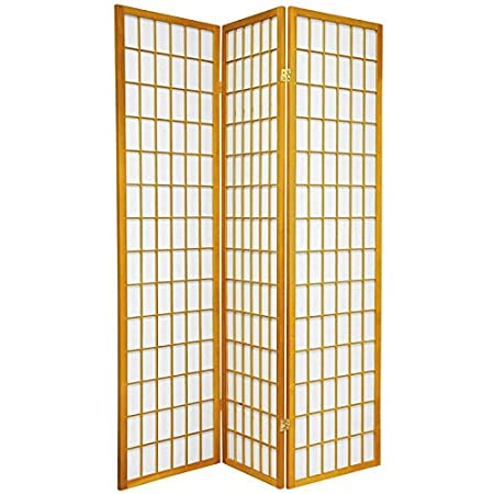 Oriental Furniture Asian Furniture, 6-Feet Window Pane Japanese Shoji Privacy Screen Room Divider, 3 Panel White SSCWP-3_Panel-White