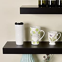 WELLAND 48 Inches Chicago Floating Wall Shelves, Black