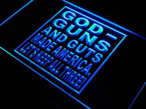 ADV PRO j638-b God Guns Guts Made America Bar Beer Light Sign