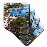 3dRose Danita Delimont - Cities - Turkey, Antalya, Southwest Mediterranean coast with Taurus Mountains. - set of 8 Ceramic Tile Coasters (cst_277008_4)