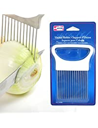 CheckOut 1 New Onion Holder Slicing Guide Stainless Steel Prongs Holds Slice Aid Cutting reviews