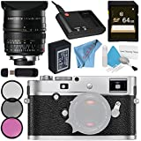 Leica M-P (Typ 240) Digital Rangefinder Camera (Silver Chrome) 10772 Summilux-M 24mm f/1.4 ASPH. Lens + 72mm 3 Piece Filter Kit + 64GB SDXC Card + Card Reader + Fibercloth Bundle