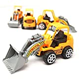 Excavator Toy (Pack of 3) Digger Toy /Backhoe/Trucks Toy/Pulling Cart toy / Digging machine/ Play Vehicles Toy /classroom education vehicle 3 Ages & up